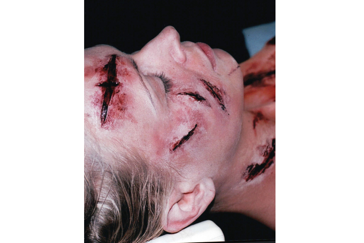 dead body sliced special effects makeup