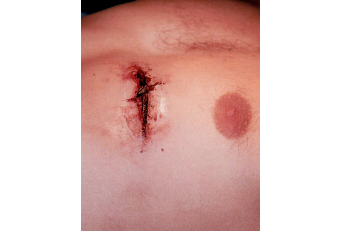 gash in chest makeup special effects