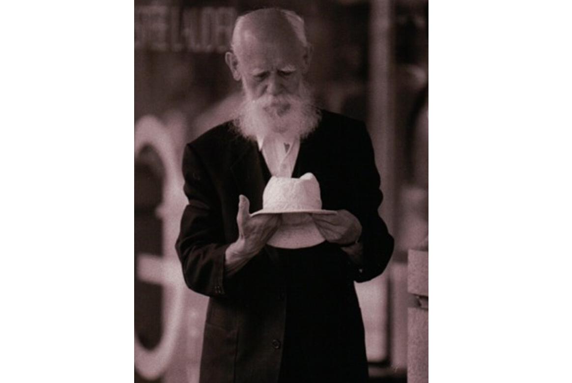 elderly man white beard special effects