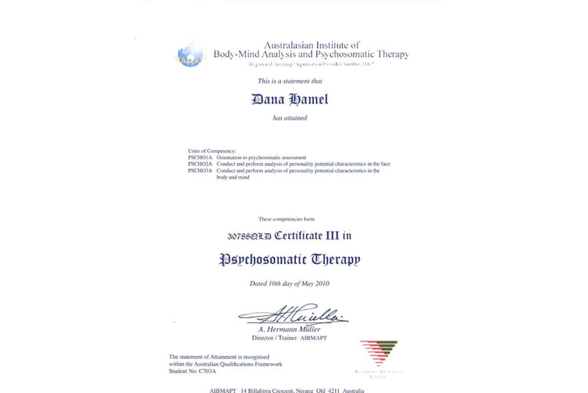 Psychosomatic Therapy Certificate