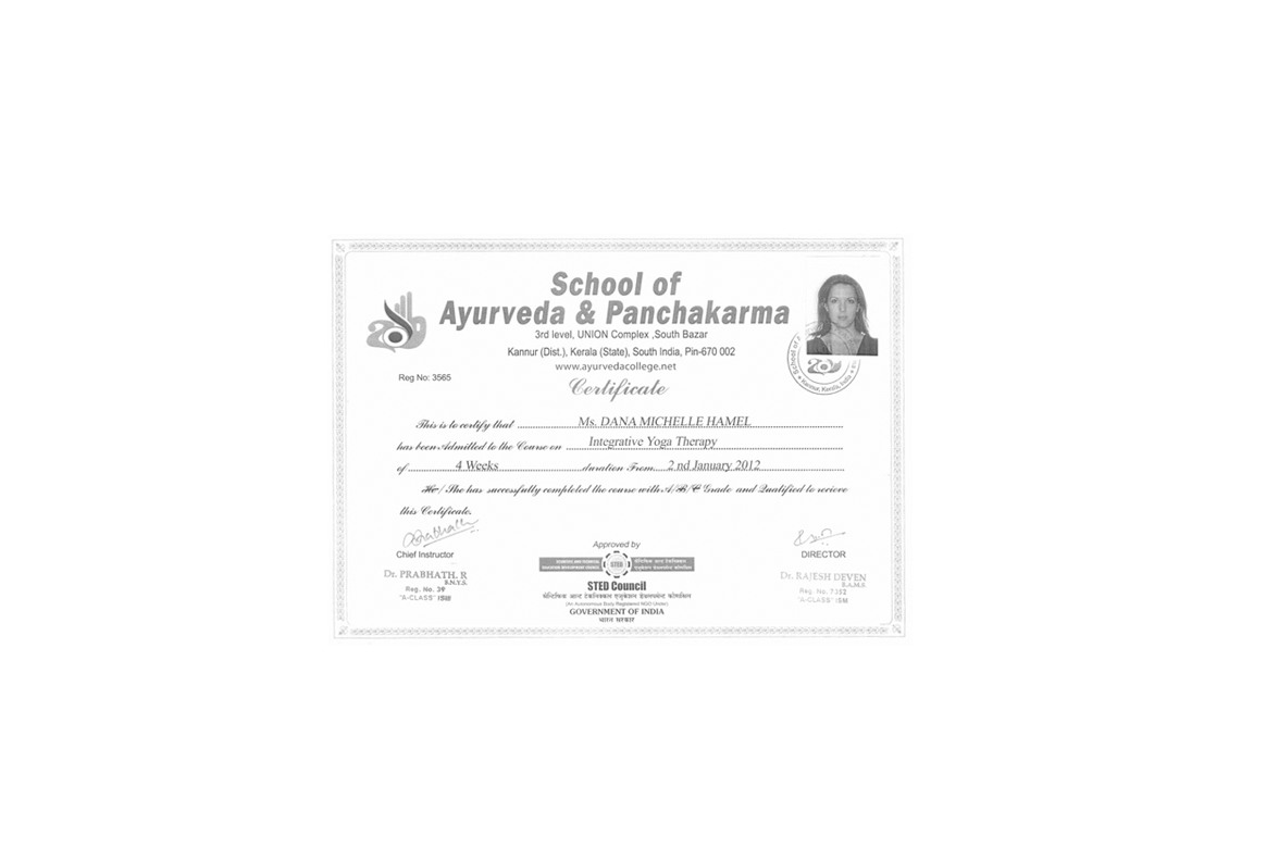 yoga therapy certificate